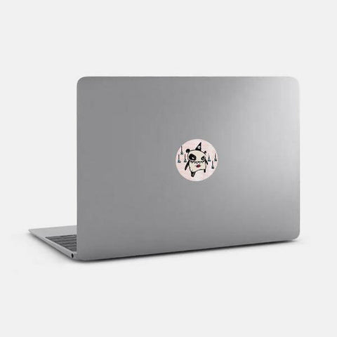 "opaque ""bazooka"" reusable macbook sticker on a mac by tabtag"