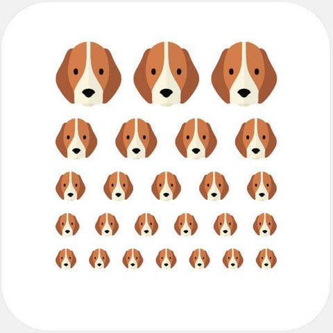 """beagle"" reusable privacy sticker set by tabtag"