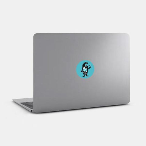 "opaque ""the big creator"" reusable macbook sticker on a mac by tabtag"