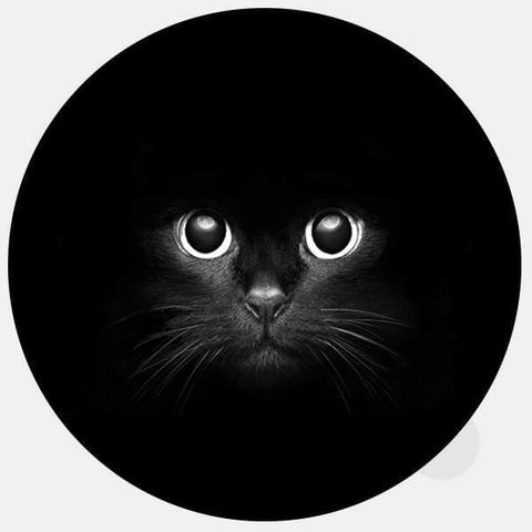 "opaque round ""black cat"" reusable macbook sticker by tabtag"