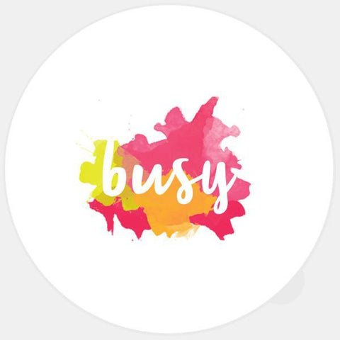 """busy"" glowing macbook sticker by tabtag"