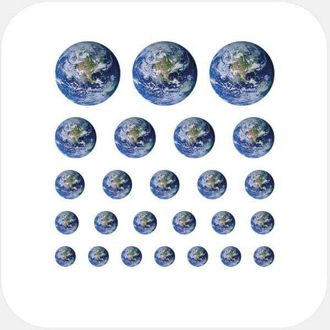 """earth"" reusable privacy sticker set by tabtag"