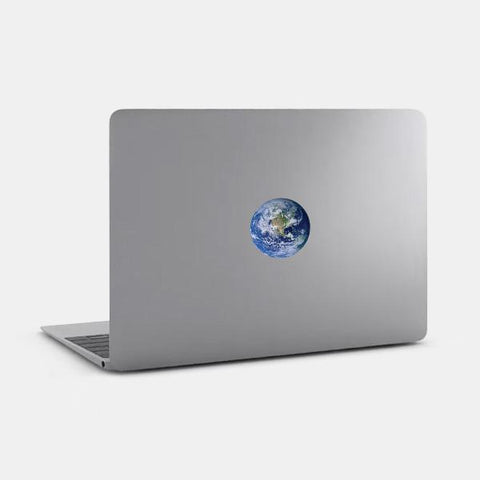 "opaque ""earth"" reusable macbook sticker on a mac by tabtag"