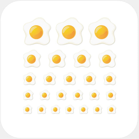 """egg sunny side up"" reusable privacy sticker set by tabtag"