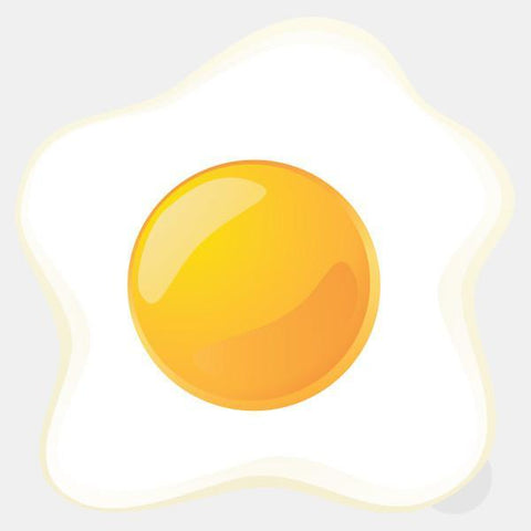 "opaque ""egg sunny side up"" reusable macbook sticker by tabtag"