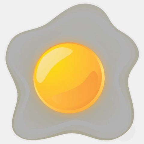 "glowing ""egg sunny side up"" macbook sticker by tabtag"