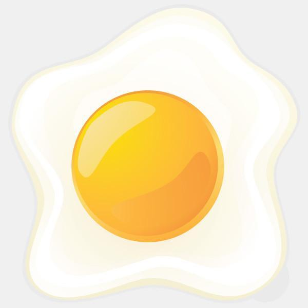 """egg sunny side up"" glowing macbook sticker by tabtag"