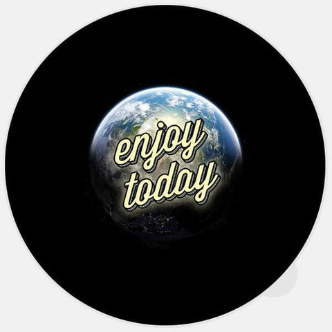 "glowing ""enjoy today"" glowing macbook sticker by tabtag"