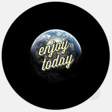 """enjoy today"" glowing macbook sticker by tabtag"