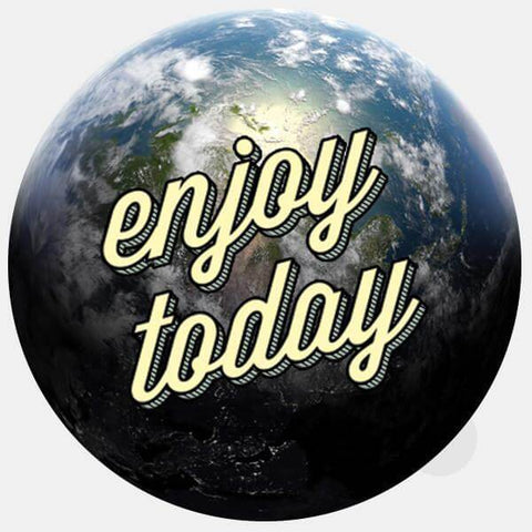 "opaque ""enjoy today"" reusable macbook sticker by tabtag"