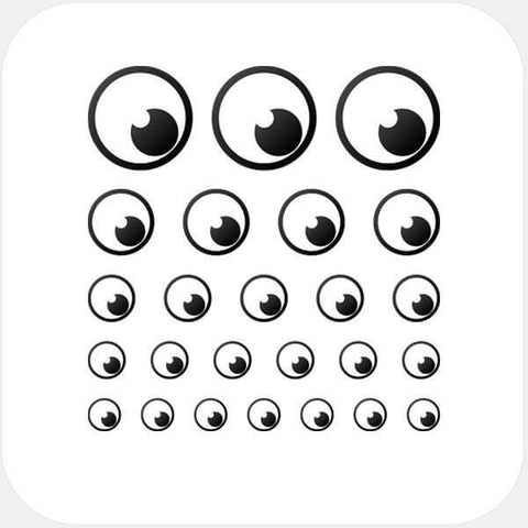 """eye"" reusable privacy sticker set by tabtag"