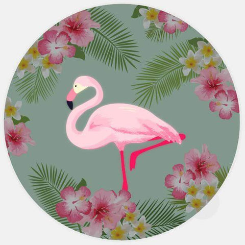 "glowing ""flamingo"" macbook sticker by tabtag"