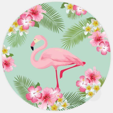 """flamingo"" glowing macbook sticker by tabtag"