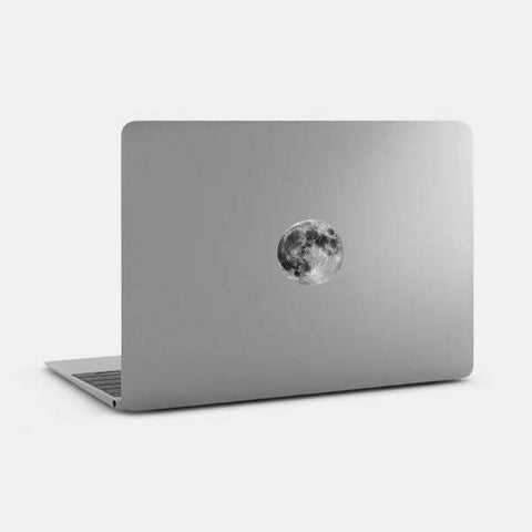 "opaque ""full moon"" reusable macbook sticker on a mac by tabtag"