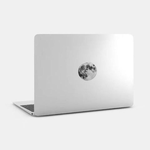 "silver ""full moon"" reusable macbook sticker on a mac by tabtag"