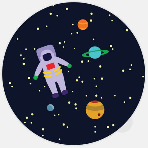 "colorful ""get lost in space"" glowing macbook sticker by tabtag"