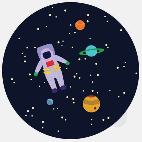 "opaque colorful ""get lost in space"" reusable macbook sticker by tabtag"