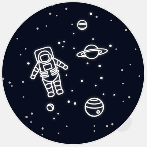 "black glowing ""get lost in space"" macbook sticker by tabtag"