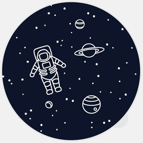 "black ""get lost in space"" glowing macbook sticker by tabtag"