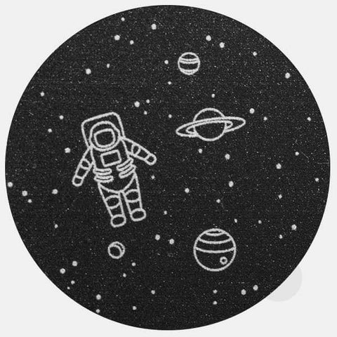 "silver ""get lost in space"" reusable macbook sticker by tabtag"