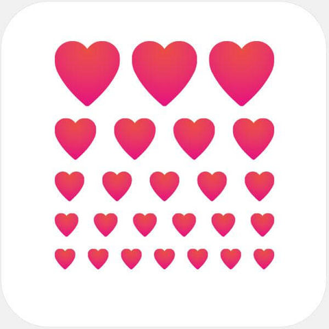 """heart"" reusable privacy sticker set by tabtag"