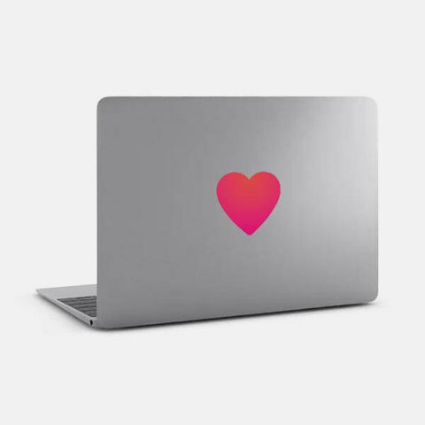 "opaque ""heart"" reusable macbook sticker on a laptop by tabtag"