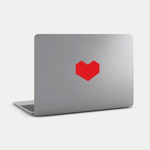"opaque ""hex heart"" reusable macbook sticker on a mac by tabtag"