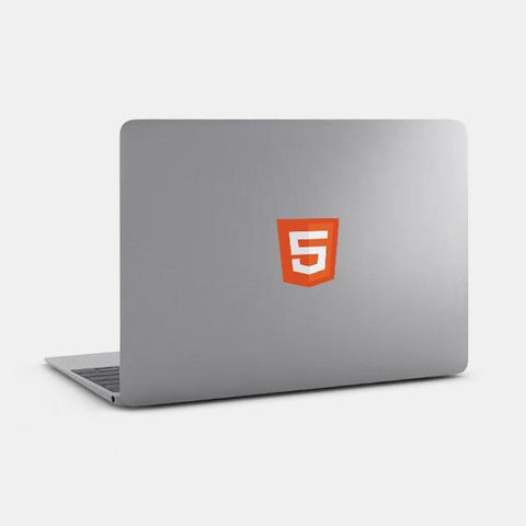 "opaque ""html5"" reusable macbook sticker on a mac by tabtag"