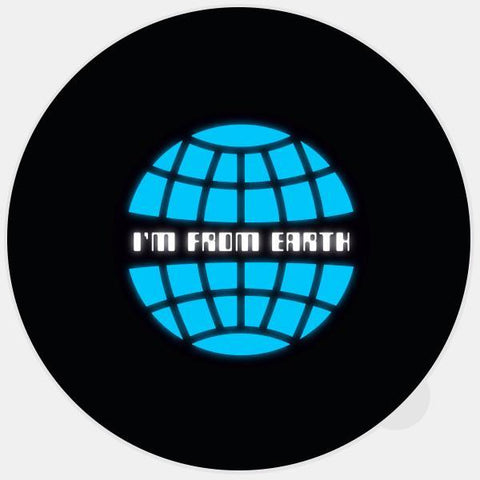 """i'm from earth"" glowing macbook sticker by tabtag"
