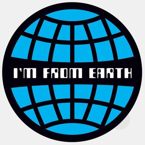"opaque ""i'm from earth"" reusable macbook sticker by tabtag"