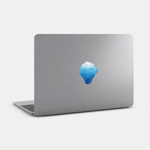 "opaque ""iceberg"" reusable macbook sticker on a mac by tabtag"