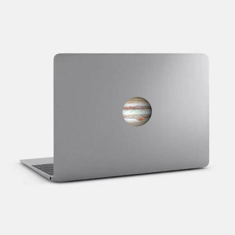 "opaque ""jupiter"" reusable macbook sticker on a mac by tabtag"