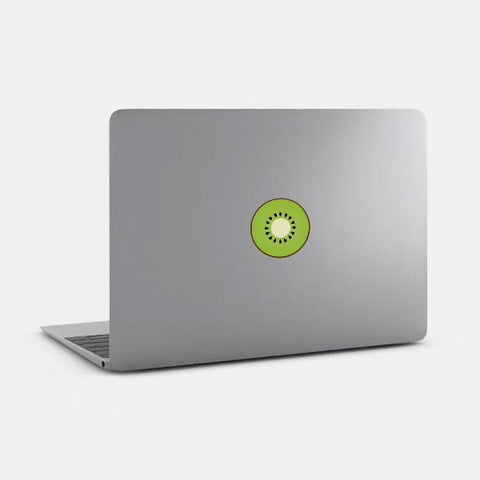 "opaque ""kiwi"" reusable macbook sticker on a mac by tabtag"