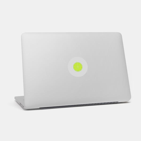 """lime"" macbook sticker glowing on a mac by tabtag"