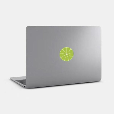 "opaque ""lime"" reusable macbook sticker on a mac by tabtag"