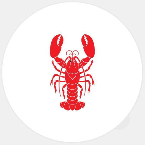 """lobster"" glowing macbook sticker by tabtag"