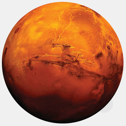 "opaque ""mars"" reusable macbook sticker by tabtag"