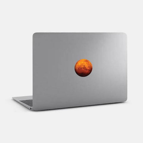 "opaque ""mars"" reusable macbook sticker on a mac by tabtag"