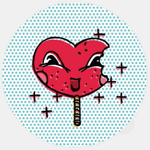 """me hearty lolly"" glowing macbook sticker by tabtag"