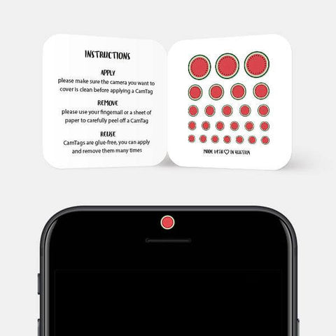 """melon"" reusable privacy sticker set on phone by tabtag"