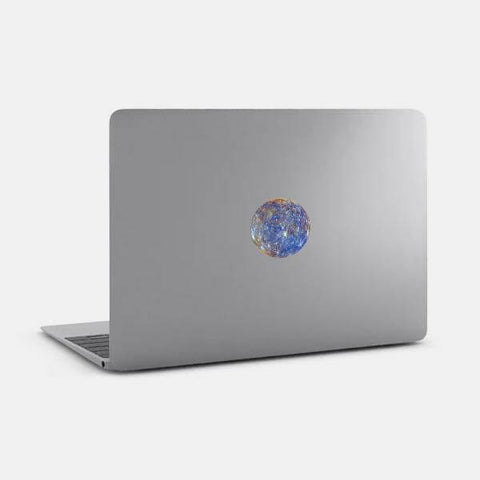 "opaque ""mercury"" reusable macbook sticker on a mac by tabtag"