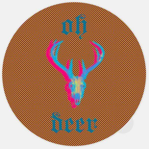 "glowing ""oh deer"" macbook sticker by tabtag"