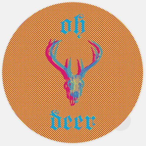 """oh deer"" glowing macbook sticker by tabtag"