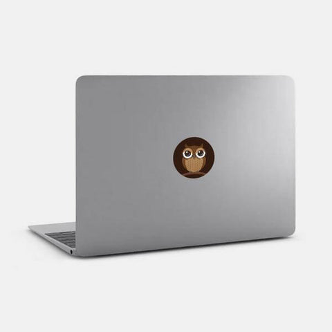 "opaque ""owl"" reusable macbook sticker on a mac by tabtag"