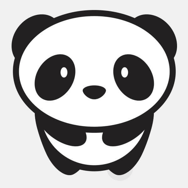 "opaque ""panda"" reusable macbook sticker by tabtag"