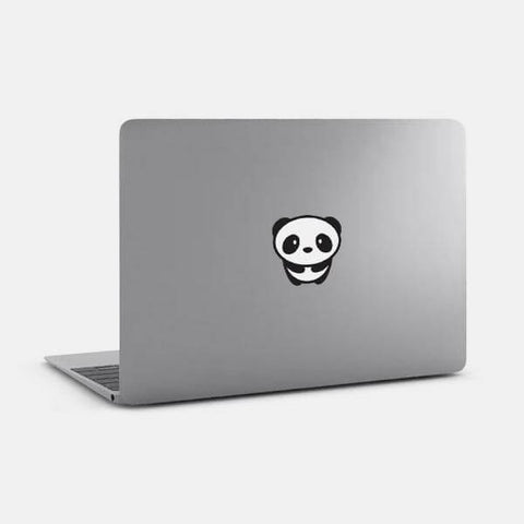 "opaque ""panda"" reusable macbook sticker on a mac by tabtag"
