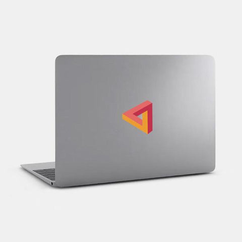 "opaque ""penrose triangle"" reusable macbook sticker on a mac by tabtag"