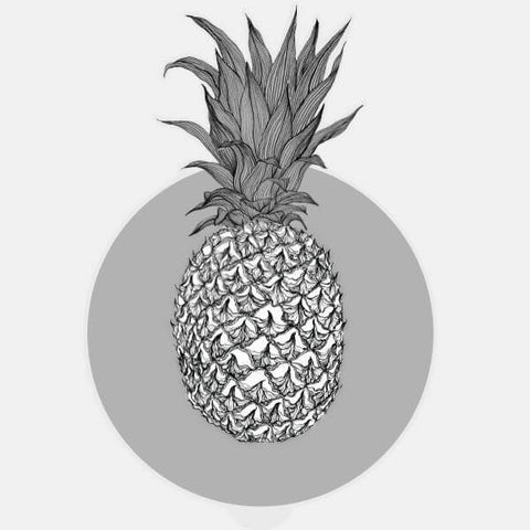 "glowing ""pineapple"" macbook sticker by tabtag"