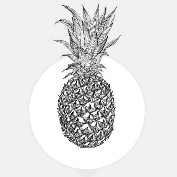 """pineapple"" glowing macbook sticker by tabtag"