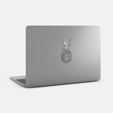 "opaque ""pineapple"" reusable macbook sticker on a mac by tabtag"